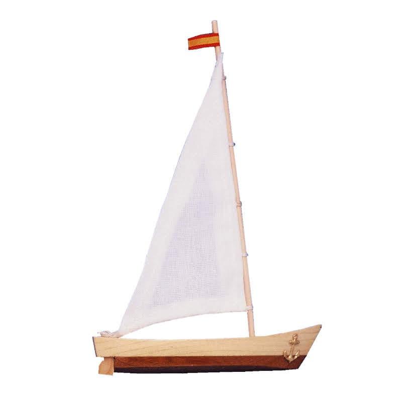 Barco de vela miniatura