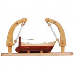 Miniatura pescante con bote