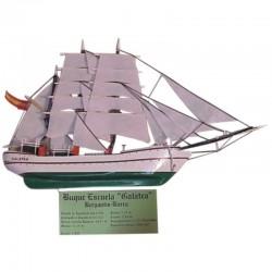 Velero buque escuela Galatea miniatura