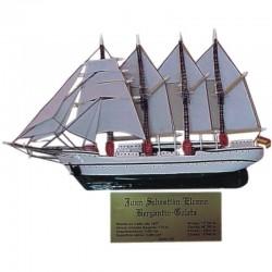 Velero buque escuela Elcano miniatura