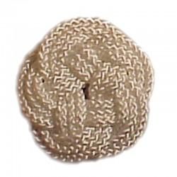 Round mat of white rope