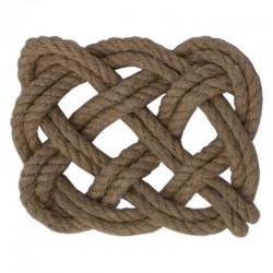 Hemp rope square mat