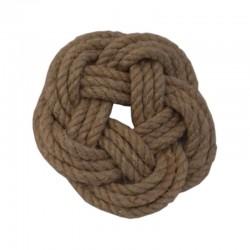 Round mat of hemp rope