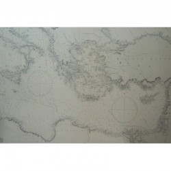 Mediterranean sea nautical chart