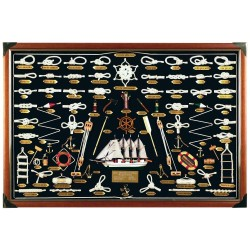 Big knotboard with white knots and sailboat