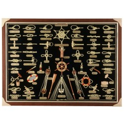 Knotboard with gilded knots