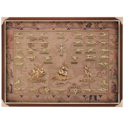 Knotboard with gilded knots and sailboats