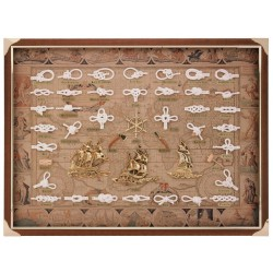 Knotboard with white knots and sailboats
