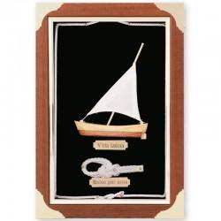 Cuadro con velero y nudo