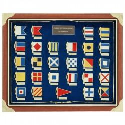 Cuadro con banderas de señales náuticas