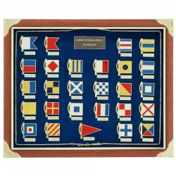 Frame showcase with nautical signal flags