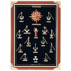Frame showcase with anchors and wind rose