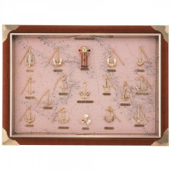 Frame showcase with anchors and nautical chart