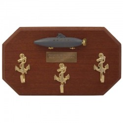 Key hanger with Peral submarine on wall board