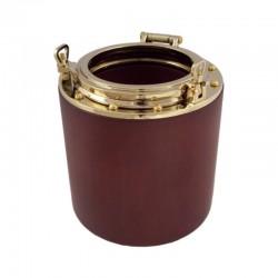 Brass porthole pen holder 12x10cm