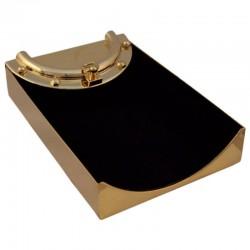 Porta-tarjetas de latón dorado 16x10x4cm