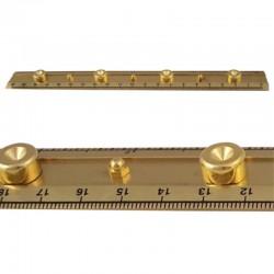 Brass ruler 21x2.5cm