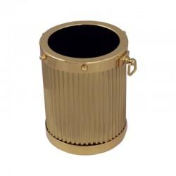 Gilded brass pen holder Ø7cm
