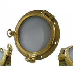 Large heavy duty ship brass porthole window