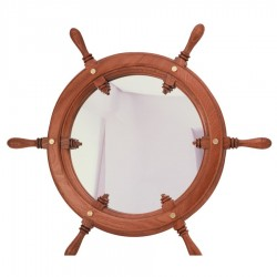 Rudder wheel 72cm with mirror glass