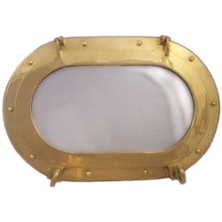 Oval porthole of brass 38x26cm