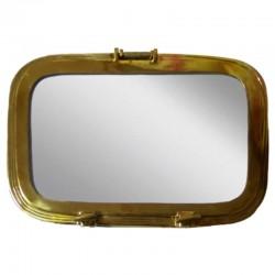 Brass porthole with mirror 44x30x7cm