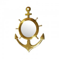 Brass anchor with mirror 47x32cm