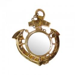 Brass anchor with mirror 33x27cm