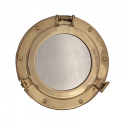 Brass porthole mirror 22cm