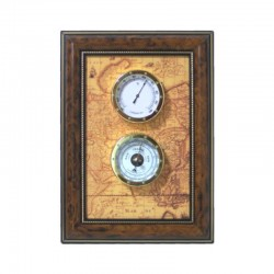 Weather station 33x23cm with barometer and hygrometer
