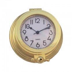 Gilded brass wall clock 11x4cm