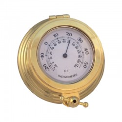 Gilded brass wall thermometer 11x4cm