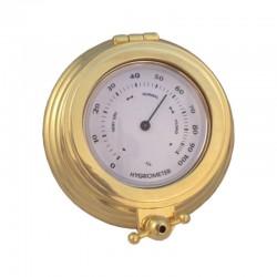 Gilded brass wall hygrometer 11x4cm