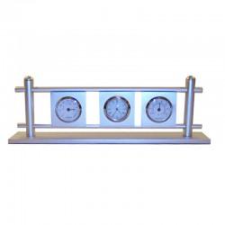 Desktop aluminum weather station 27x9x5cm