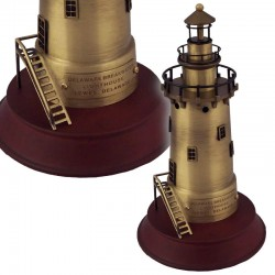 Lighthouse made of brass on a round base 20x11cm