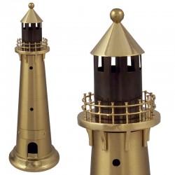Lighthouse polished brass 27x9cm