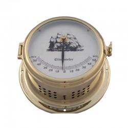 Clinómetro latón pulido, esfera practicable 14-18x10cm
