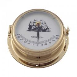 Clinómetro latón pulido, esfera practicable 14-18x7cm
