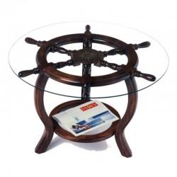 Rudder wheel table 72x49cm