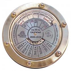 Brass perpetual calendar 9cm