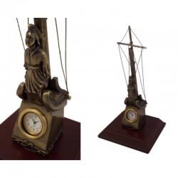 Mascarón de proa con reloj 20x7x5cm
