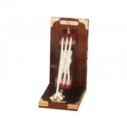 Bookend with rigging and white rope 20x16x10cm