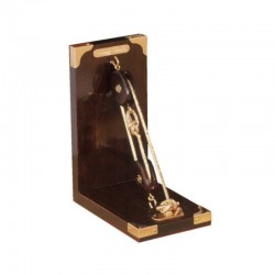 Single rigging bookend with gilded rope 20x16cm