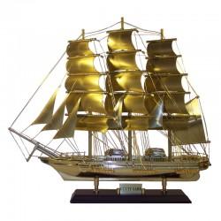 "Sailboat ""Cutty Sark"" of polished brass 52x44x14cm"