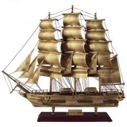 "Sailboat ""Cutty Sark"" of old brass 52x44x14cm"