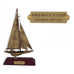 Brass sailboat América's Cup 28x16x6.5cm