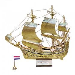 """Velero """"Príncipe Guillermo"""" latón dorado 16x16x4cm"""