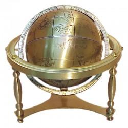 Brass world globe 13cm