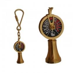 Brass nautical keychain Engine order telegraph