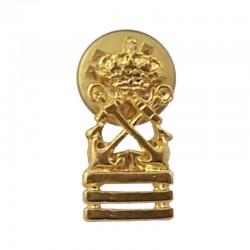Pin Capitán de yate, de metal dorado